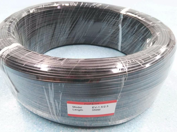 Led 0.75mm Black Fiber Optics Cable Lighting For Ceiling