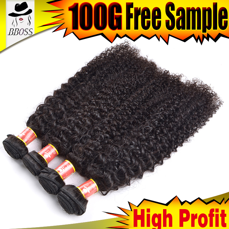 Double Drawn brazilian curly human hair extenions wholesale