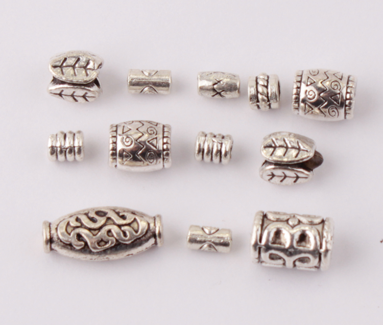 300 Milti 2 Strand Spacer Bar Beads 4x7mm Fits 3-4mm Beads Antiqued Silver