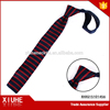 latest red and black knit tie custom design mens silk knitted tie