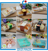 Factory supply order discount 2% off disposable transarent plastic cake container
