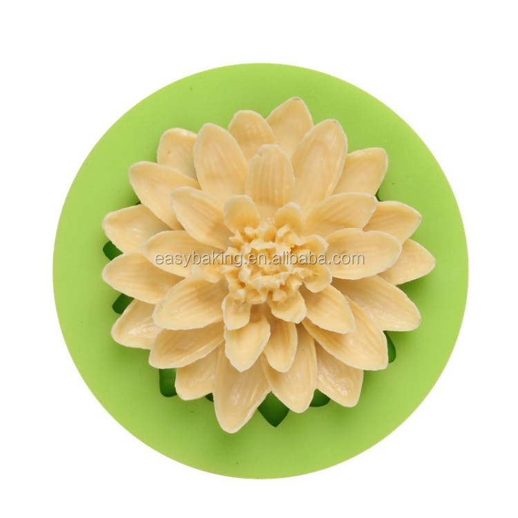 ES-4018 Lotus Flower Fondant Mould Silicone Molds for Cake Decorating.jpg