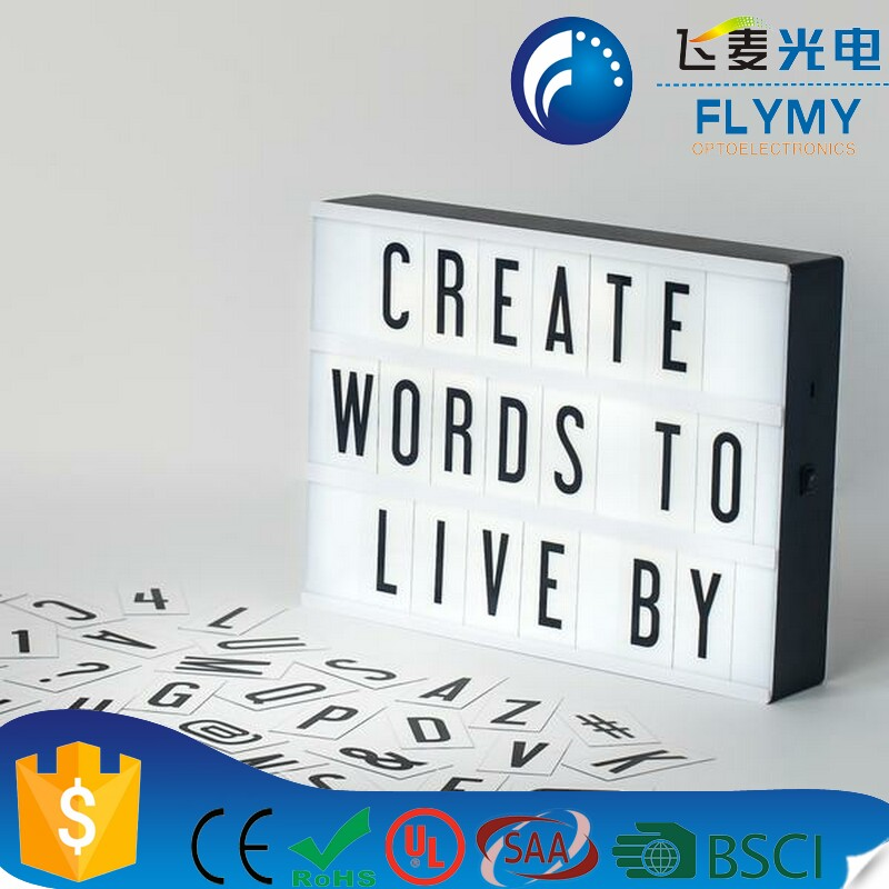 A4 High Quality Usb Battery Powered Cinematic Lightbox Cinema Sign Light Box Letter Light Box For Home