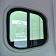 Flat push window for RV car, screen and blind and anti-mosquito
