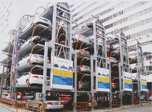 IC card and manual type ultrasonic PLC automatic Rotary car parking system with safety sensors