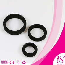 Full Silicone 6 size Erotic Sex Toy Cock Ring Set for male