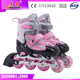GOSOME GX-1603 Hot sell OEM accept adjustable sizes durable and comfortable fully-soft vamp pink kids inline/roller skates shoes