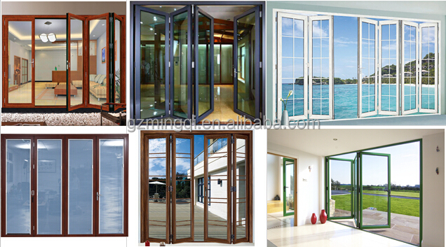Exterior: High Quality Folding Entry Glass Doors With Blinds Inside