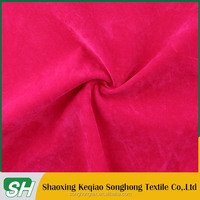 100% polyester weft knitting suede for shoes or sofa