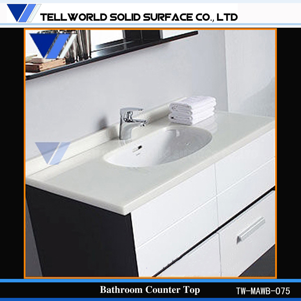 Acrylic Solid Surface Bathroom Vanity Counter Top High Gloss ...