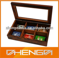 High Quality Customized Made-in-China Gift Wooden Tea/Coffee Boxes(ZDW13-W409)