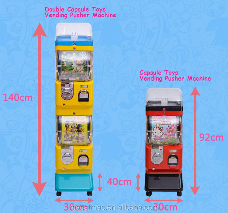 [MACAT] Topu makinesi otomatlar/Mavi ve Beyaz Hiçbir Üst Vitrin Gashapon Makinesi