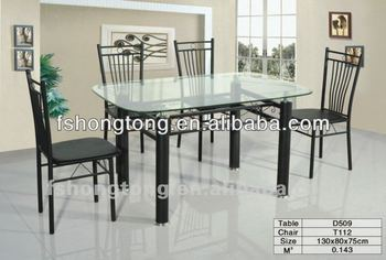 Rectangular Glass Top Dining Tables D509t112  Buy Simple Design Dinner Table,Expandable Dining