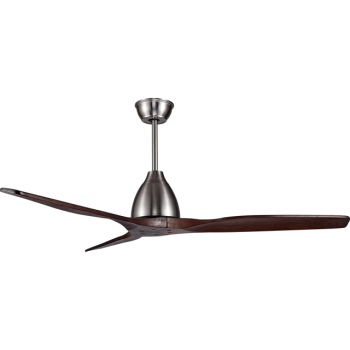 No light 52 inch fan dc iron wood blade ceiling fan