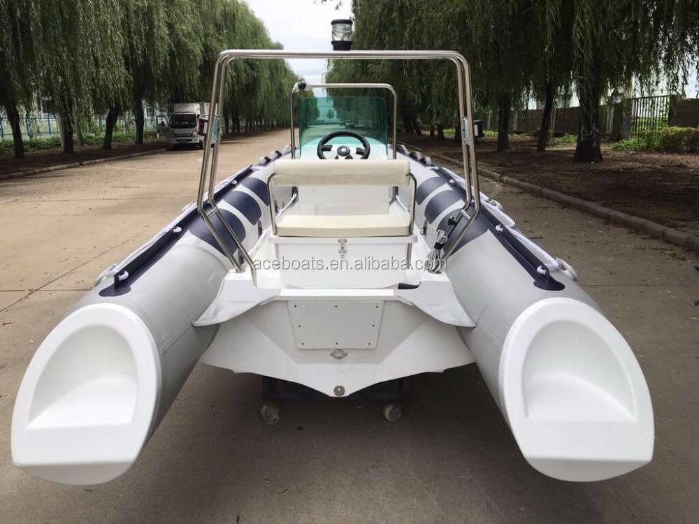 China speed fiberglass fishing boat sailing dinghy RIB-420 for sale!