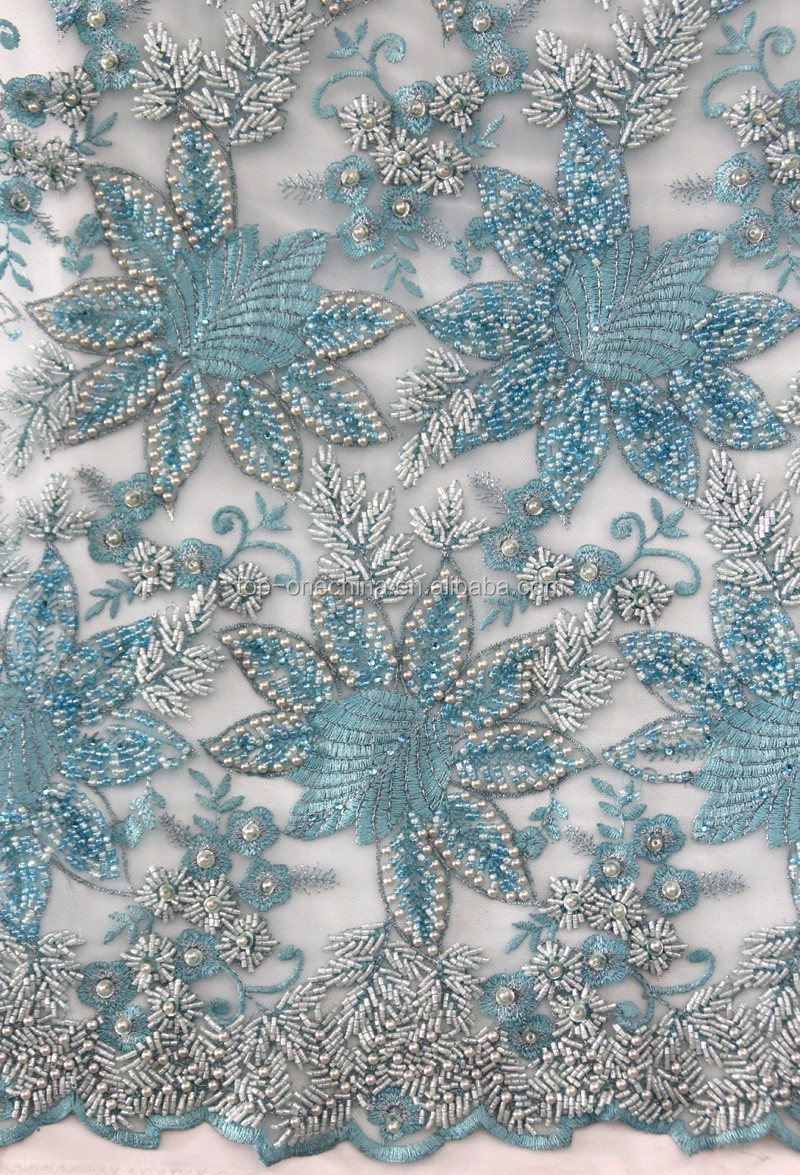 D flower lace handwork french fabric