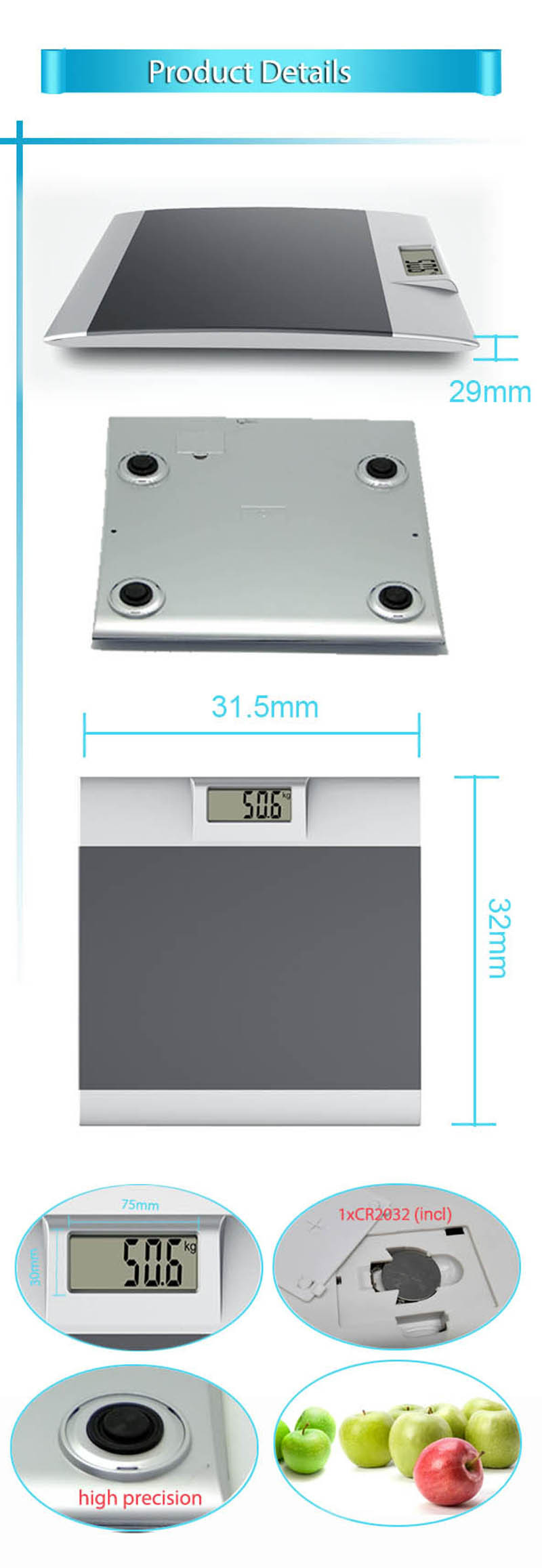 Sunny precision calibrate digital bathroom scale buy - How to calibrate a bathroom scale ...