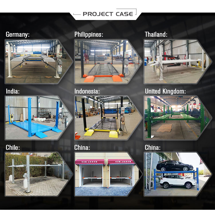 electric hydraulic used 4 post car lift for sale