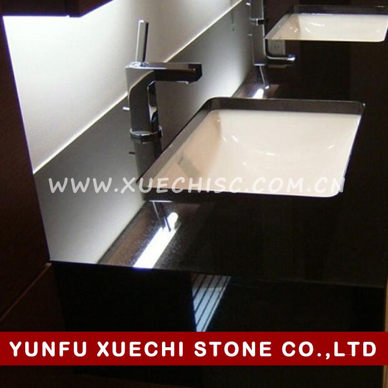 best price solid color prefab black granite kitchen countertop meter price
