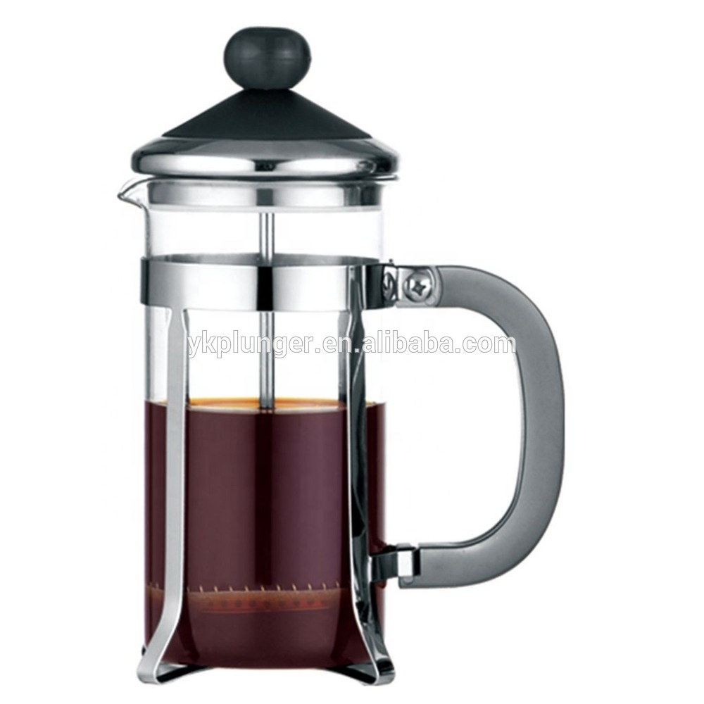 2019 Warna Hitam Tahan Panas Stainless Steel Bahasa Perancis Coffee Press