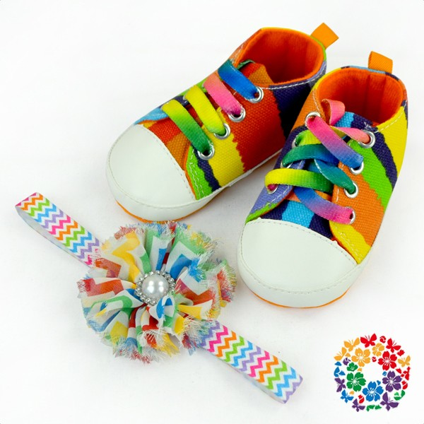 Valentine Day Soft Baby Shoes Stylish Girls Cheap Shoes With Matched Headband