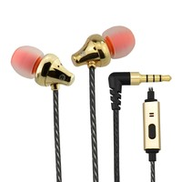 Stereo metallic ear piece ear cup Noise Cancelling system in ear monitor