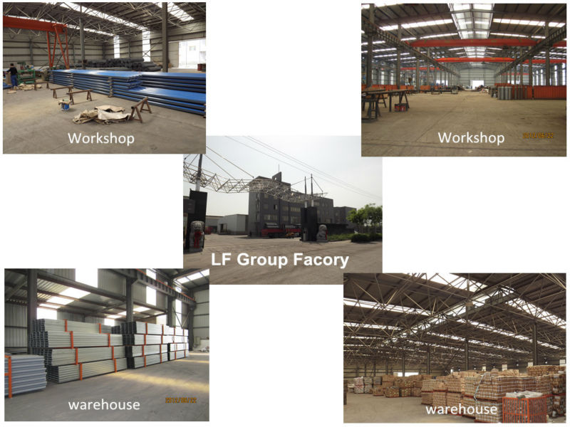 Modular light metal warehouse building construction