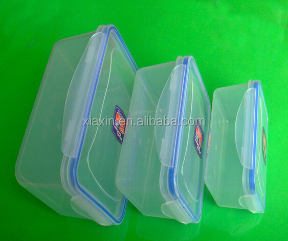 Rectangular Food grade PP microwave container with lid