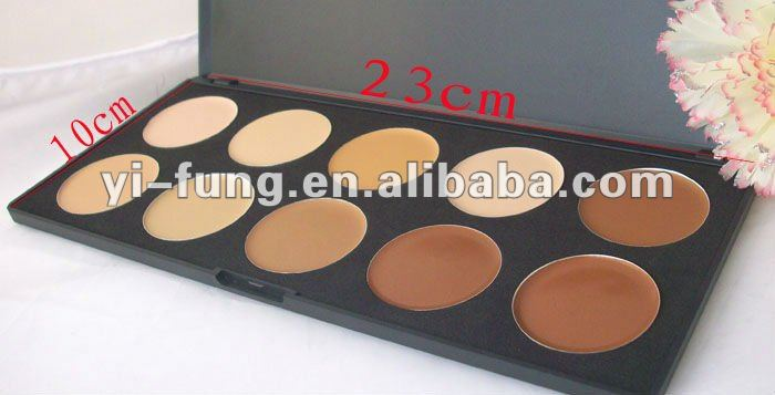 10 Colors Camouflage Concealer Palette Cream Nature