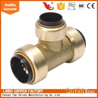 GutenTop Lead Free Brass Push Fit Fittings Tee 1/2
