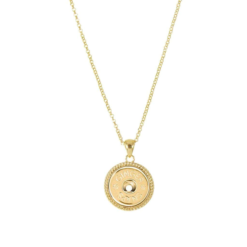 Ginger Snaps (Simulated) Gold Pendant Necklace SN95-72 (Standard Size) Interchangeable Jewelry