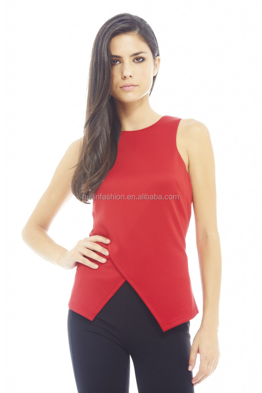 Shirt design unique - T Shirt Design For Ladies Sleeveless Vest Unique Design Latest Tops Designs Girls