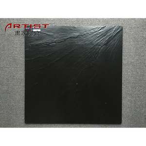 600X600mm full body rough surface black porcelain garden rustic tiles from Foshan factory