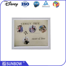 4 Opening Print Glass Family Tree Home Decoration Horizontal Photos Frame
