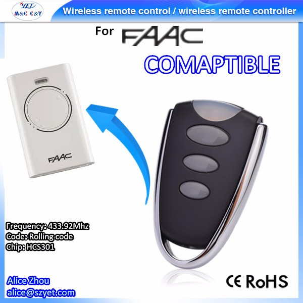 YET022 FAAC Replacement Rolling Code Universal Remote Control
