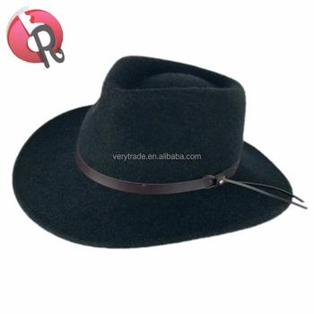 Men s Mountain View Crushable Wool Cowboy Hat Mountain Man Felt Hat ... a27d37c165e