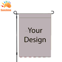 Polyester Digital printing Custom Garden Flag or blank Garden flags
