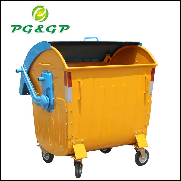 1100L Hot Dip Galvanized Sorted Collection Stacking Plastic Bins,Cheap Metal Dustbin Waste Bin Outdoor