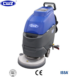Single brush commercial walk behind floor scrubber