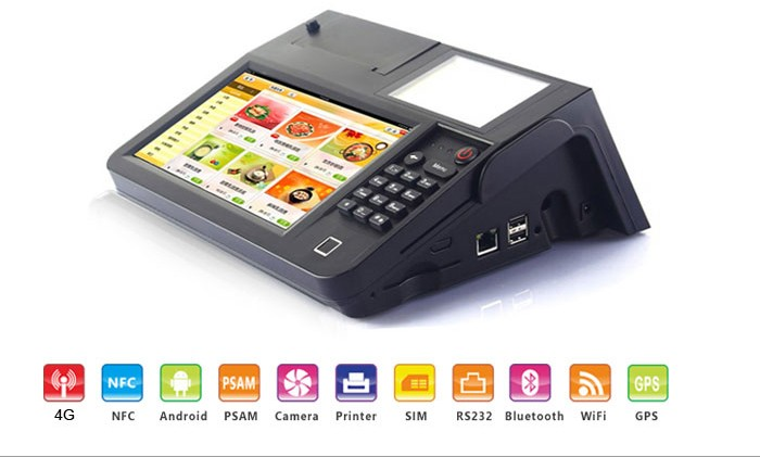 Mobile Pos Terminal With Nfc Mifare Reader Barcode Scanner Android Os Wifi  Bluetooth Printer - Buy Payment Pos System,Tablet Pos,3g Pos Terminal