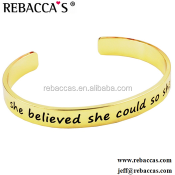 Motivational Quotes Personalized Inspired Proverb For Kid Men Runner Teen Wholesaler Women Custom Engraved Metal Bracelets Buy Quote