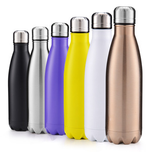 Wholesale custom logo matte bright stainless steel thermos black bottle