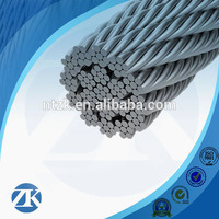 gold supplier 19X7 3-50mm galvanized or ungalvanized steel wire rope for crane load and unload
