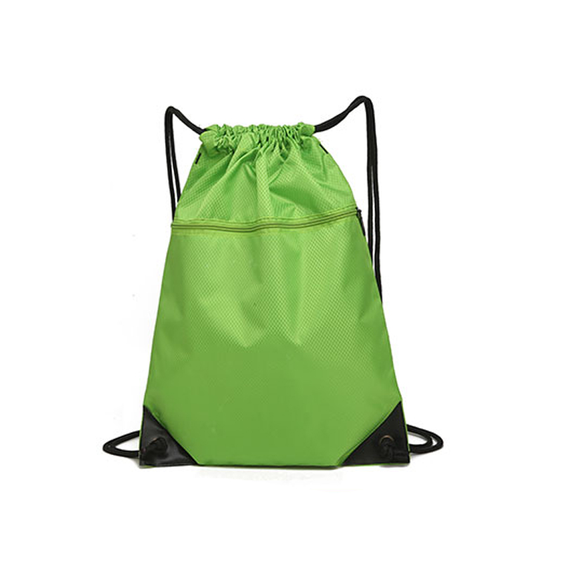Custom Logo Branded Lightweight Drawstring Zipper Backpack Bag