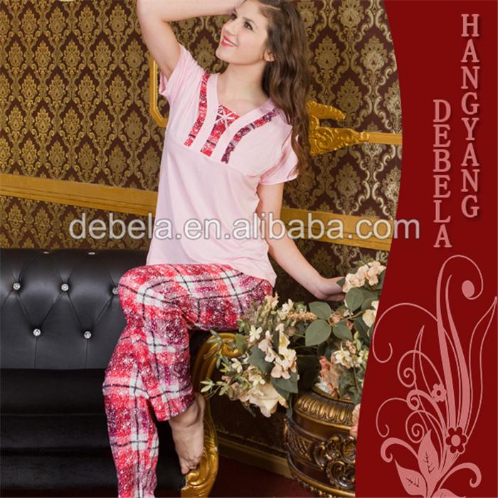 f842212989 Stylish printed modal sexy bedroom night wears pajama lady cotton girl  pajamas
