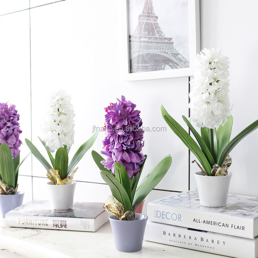 creative d coration int rieure fleurs artificielles fleurs artificielles en pot jacinthe fleurs. Black Bedroom Furniture Sets. Home Design Ideas