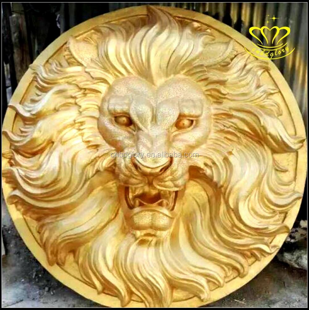 Lifelike Bronze Resin Animal Lion Head Wall Mount Decor Wholesale ...