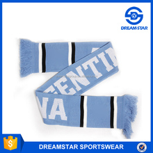 Professional Acrylic Argentina Knitted Football Fan Scarf