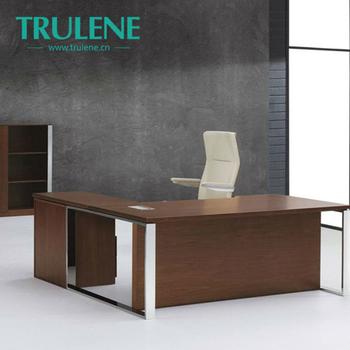 Ordinaire Boss Room Office Bedroom Metal Frame Wooden Office Desk