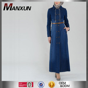 Muslim Names Images Islamic Kebaya Abaya Belt Denim Dress Muslim